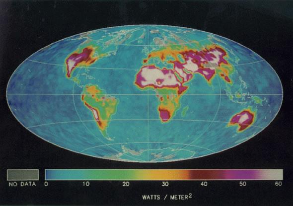 Diurnal Range - Clear Skies - April 1985