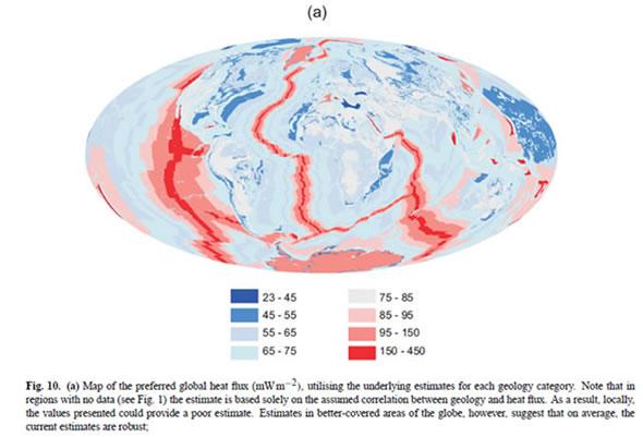 Earth's surface heat flux