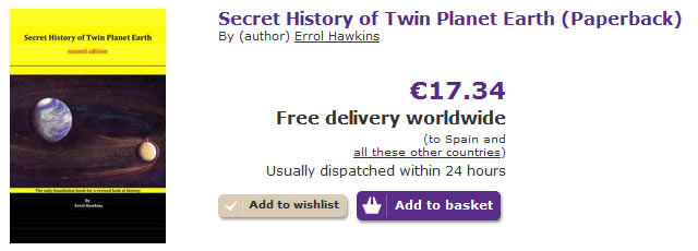 Secret History of Twin Planet Earth - Order Form