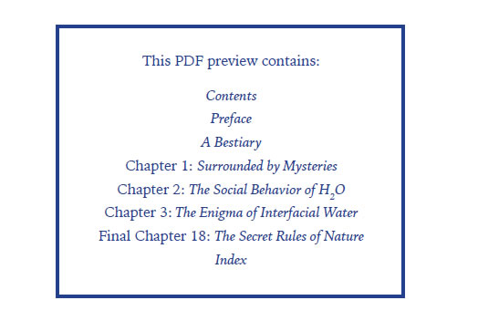 The Fourth Phase of Water - Sample Chapters