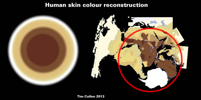 Human skin colour reconstruction