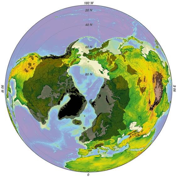 Ice Age northern hemisphere
