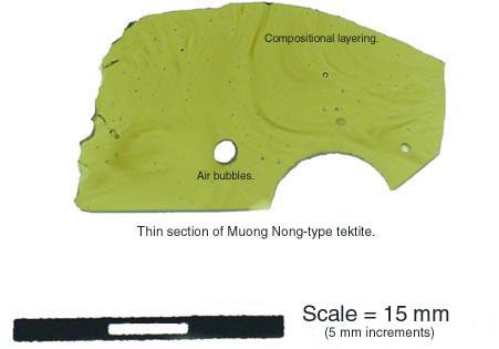 Muong Nong Tektite - Section