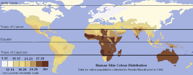 Renatto Luschan - Human Skin Colour Distribution