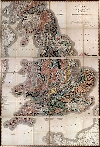 Geological map of Britain - William Smith 1815