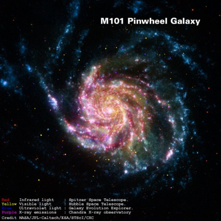 M101 Pinwheel Galaxy - full image
