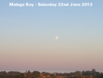 Moon Rise over Malaga Bay - 22 June 2013