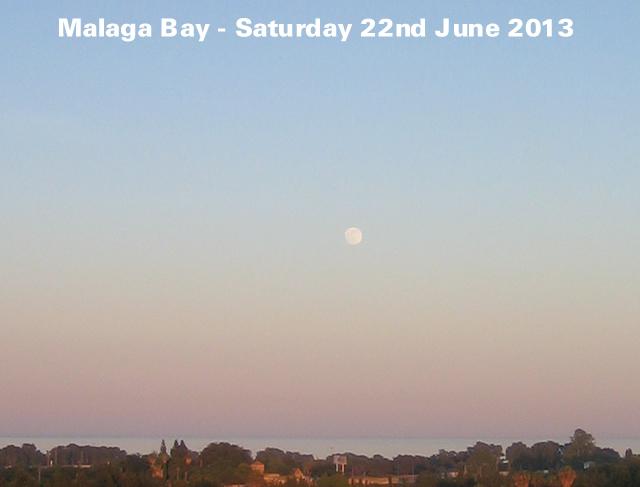 Moon Rise over Malaga Bay - 22 June 2013