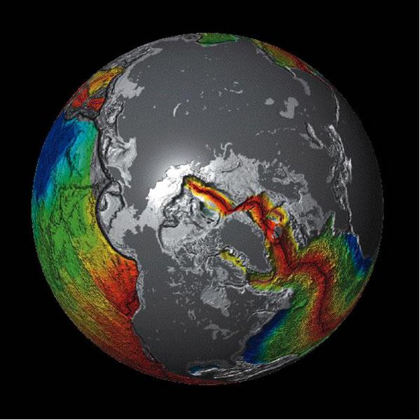 Seafloor Stretching - Northern Hemisphere