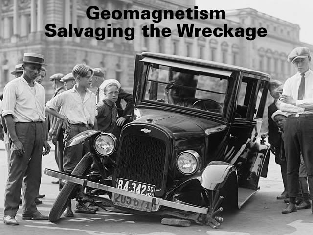 Geomagnetism Salvaging the Wreckage