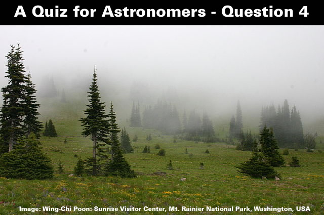 A Quiz for Astronomers - Question Four