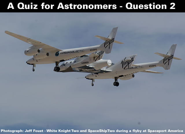A Quiz for Astronomers - Question Two