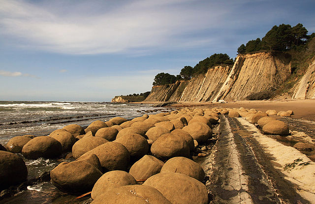 Concretions on Bowling Ball Beach  - Mendocino County, California