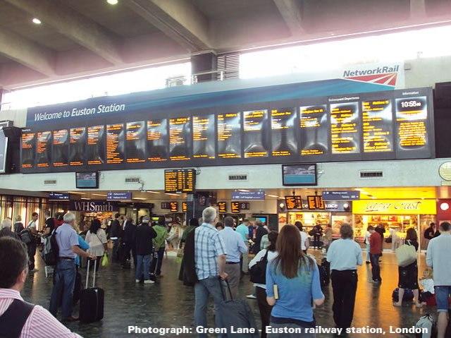 Euston railway station, London