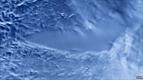 RADARSAT image of Lake Vostok, Antarctica