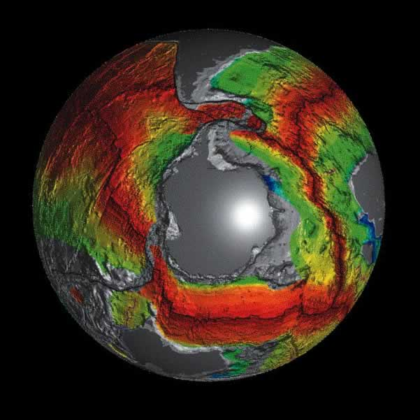 Antarctica Oceanic Crust