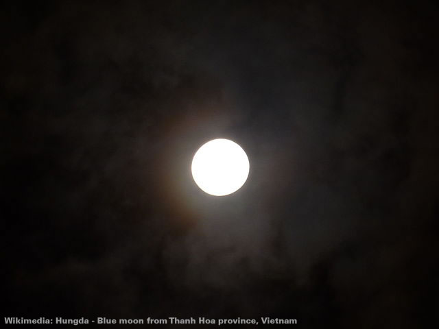 Blue moon from Thanh Hoa province, Vietnam