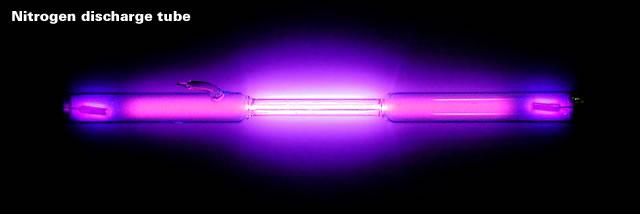 Nitrogen discharge tube