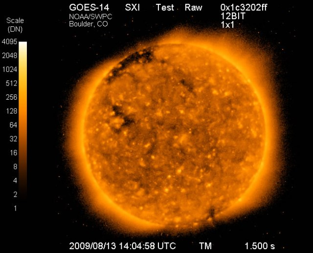 SXI image of the Sun