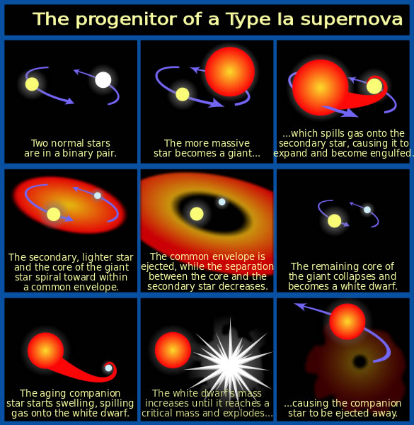 Formation of a type Ia supernova