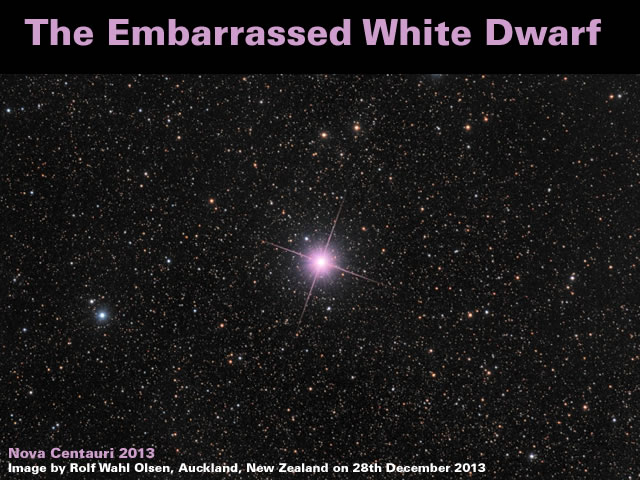 The Embarrassed White Dwarf