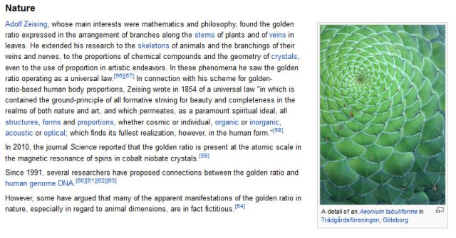 Golden Ratio in Nature