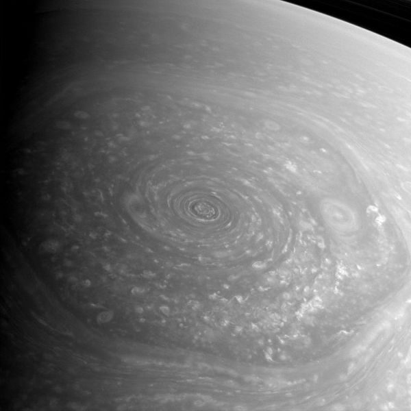 Saturn north polar hexagon 2012-11-27