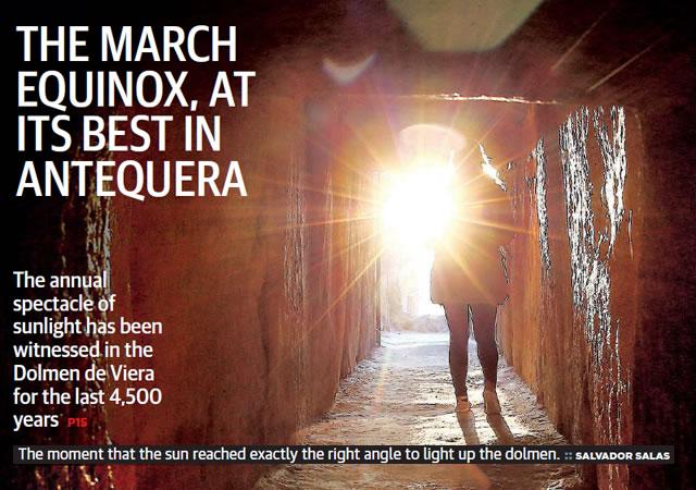 Dolmen de Viera - March Equinox