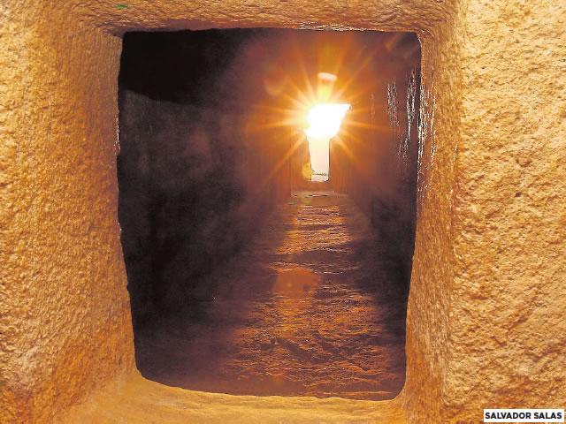 The inside of the Dolmen de Viera