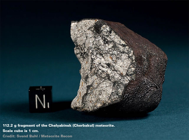 Fragment of the Chelyabinsk meteorite