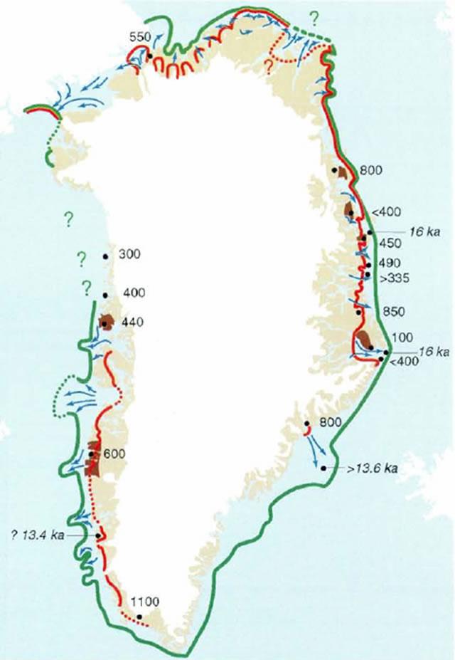Greenland - Major ice free areas