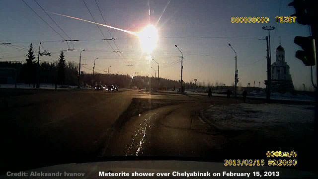 Meteorite shower over Chelyabinsk - 15 February 2013