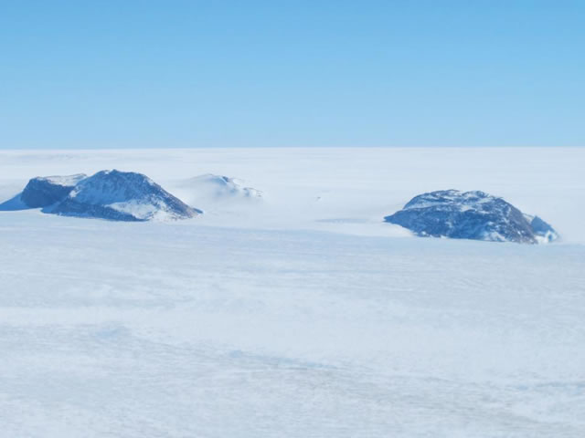 Nunataks in Western Greenland