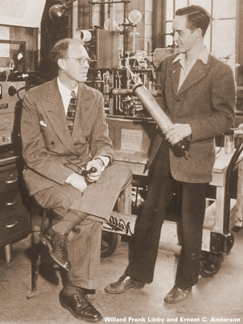 Willard Frank Libby and Ernest C Anderson