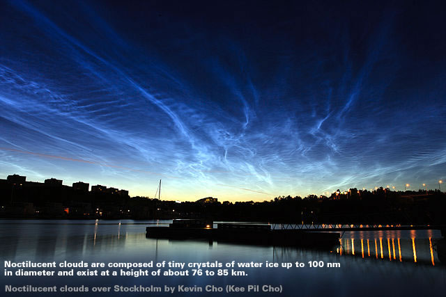 Noctilucent clouds over Stockholm