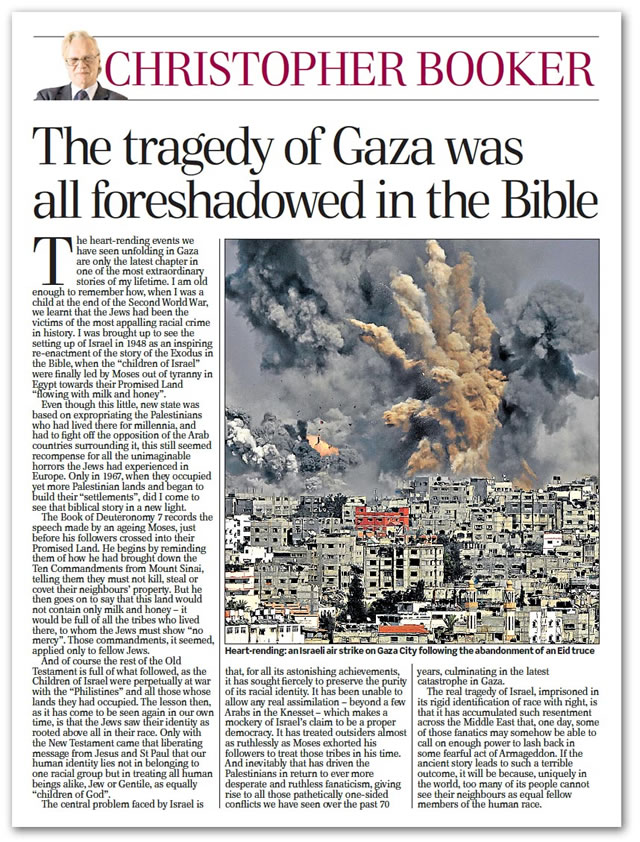 Booker - The tragedy of Gaza