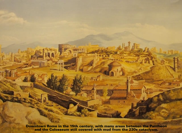 Downtown Rome in the 15th century,
