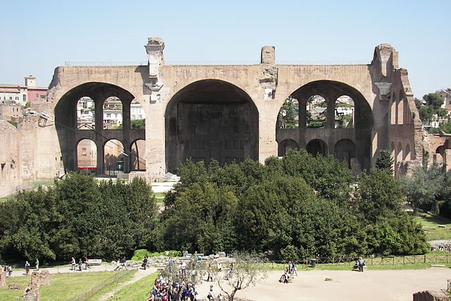 The Basilica of Maxentius and Constantine in the Roman Forum