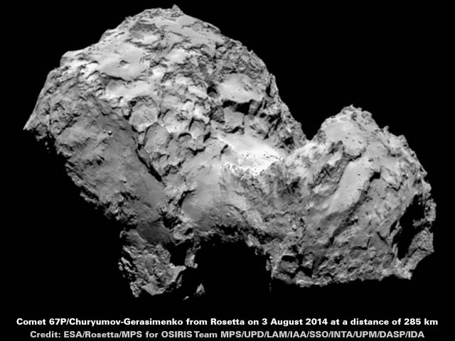 Comet 67P - 3 August 2014