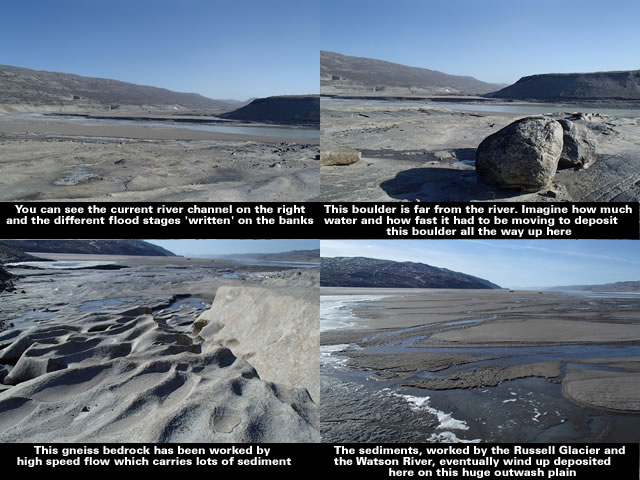 The Russell Glacier and the Watson River - Greenland