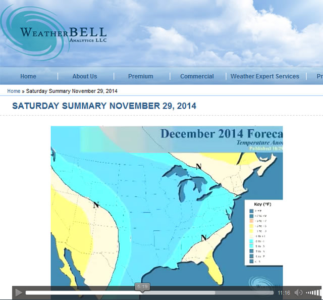 WeatherBell Dec 2014 Forecast