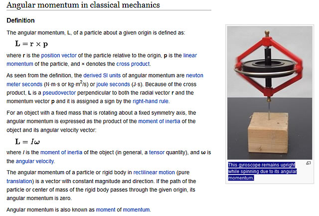 Angular momentum in classical mechanics
