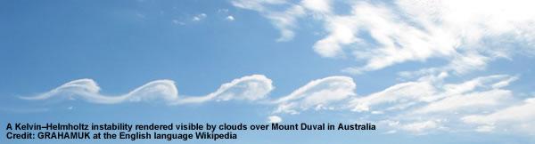 Kelvin–Helmholtz clouds