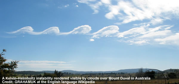 Kelvin–Helmholtz instability in clouds