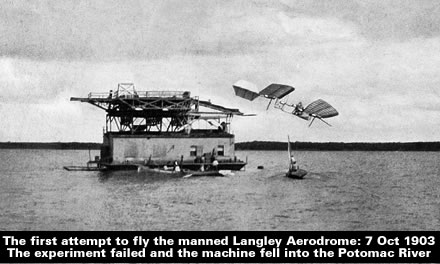 The manned Langley Aerodrome - 7 Oct1903