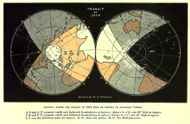 2004 Transit of Venus - Map