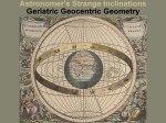 Geriatric Geocentric Geometry