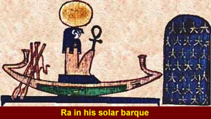 Ra in his solar barque