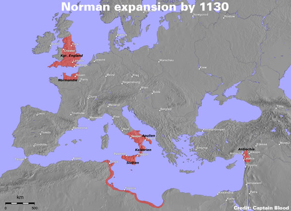Norman expansion by 1130