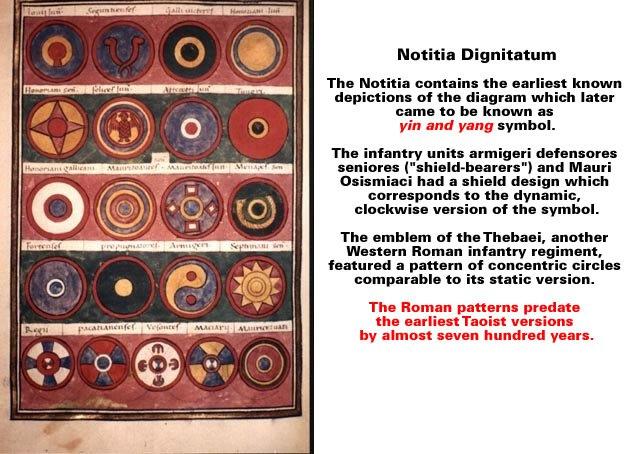 Notitia Dignitatum Yin and Yang symbol